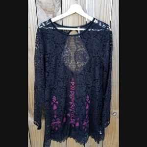 Free People Long Sleeve All Lace Dress